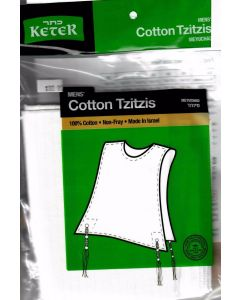 Tzitzis Cotton # 20 ROUND-Neck, Meyuchad Thin Tzitzis