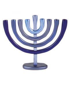 Emanuel Anodized Blue Menorah