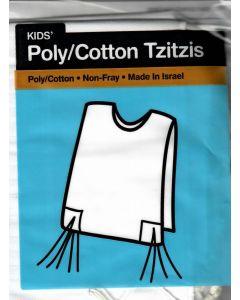 Tzitzis #4 Round Neck poly/cotton