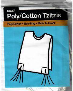 Poly Cotton Tzitzis Size 2 V Neck