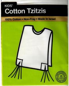 Tzitzis Cotton #18, V-Neck, Meyuchad,  Regular Tzitzis